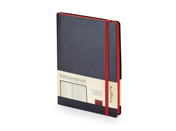 Ежедневник недатированный Bruno Visconti Megapolis Soft А5, черный/ красный - фото № 1