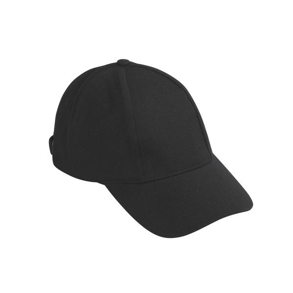 Бейсболка Base&Caps, 6 клиньев, черная - фото № 1
