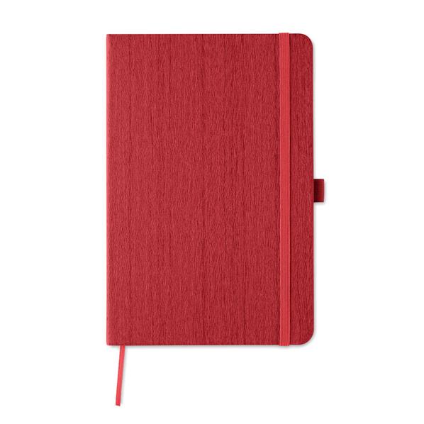 Блокнот в линейку на резинке А5, 80 стр., красный - фото № 1