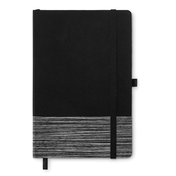 Блокнот линованный на резинке А5, 80 стр., серый - фото № 1