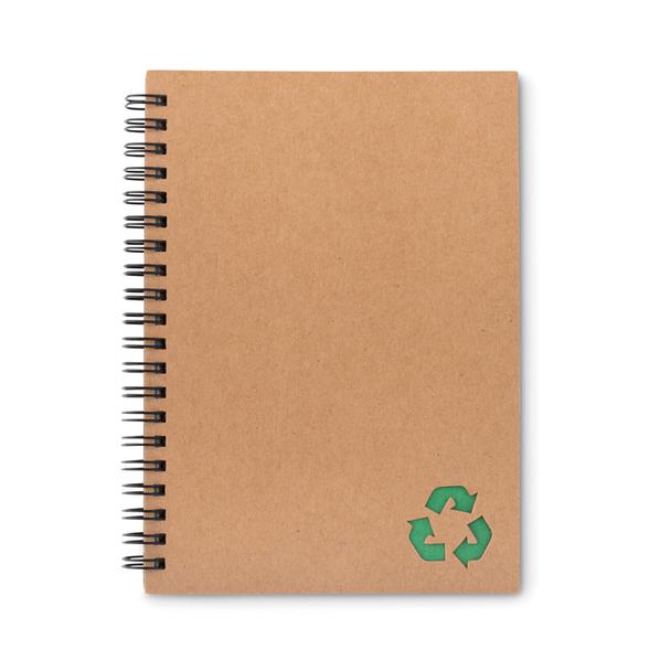 Блокнот на кольцах, 70 стр., крафт/ зеленый - фото № 1