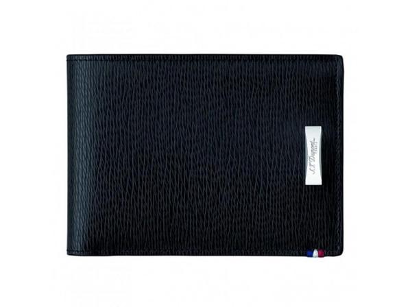 Бумажник S.T. Dupont Contraste натуральная кожа 110 х 85, черный - фото № 1