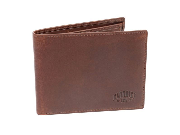 Бумажник Klondike 1896 Dawson, кожа, орех - фото № 1