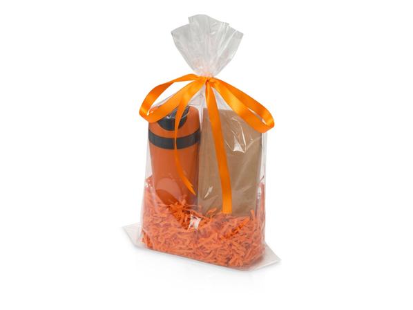 Набор подарочный Mattina Plus: термокружка и кофе, оранжевый - фото № 1
