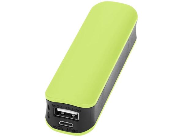 Зарядное устройство портативное Edge, 2000 mAh, черное/ зеленое - фото № 1