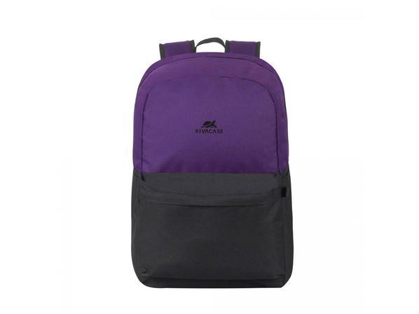 Рюкзак Rivacase для ноутбука до 15.6'', фиолетовый/ черный - фото № 1