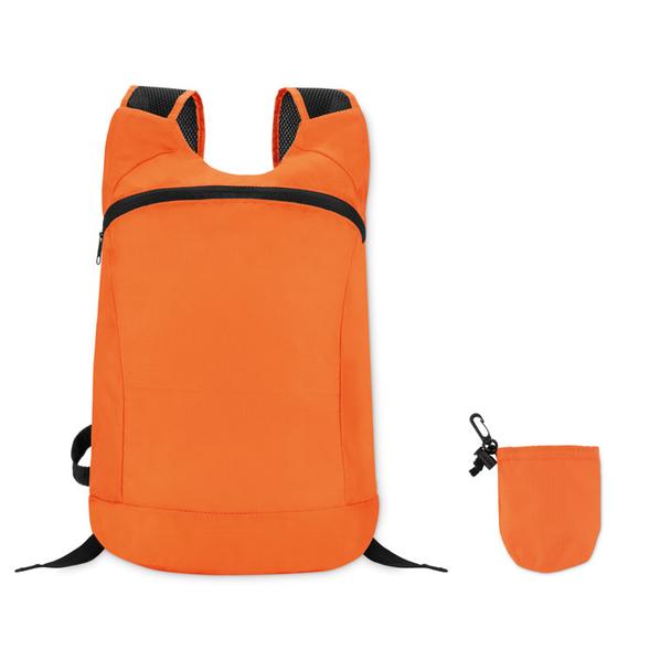 Рюкзак спортивный, оранжевый - фото № 1