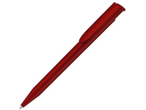 Ручка шариковая пластиковая Happy Gum, soft-touch, красная - фото № 1