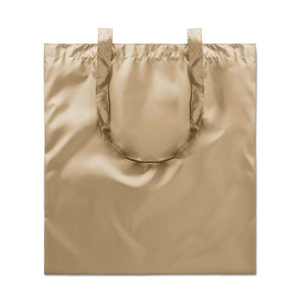 Сумка шоппер блестящая, золотой - фото № 1