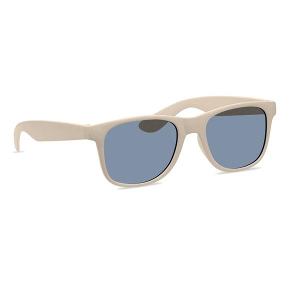 Солнцезащитные очки из бамбука, бежевые - фото № 1