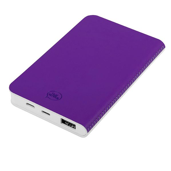 Зарядное устройство thINKme Franky, 4000 mAh, белое / фиолетовое - фото № 1
