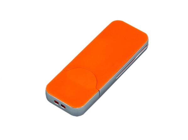 Флешка USB 2.0 на 32 Гб в стиле IPhone, оранжевая - фото № 1