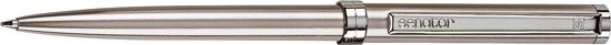 Ручка шариковая металлическая Senator Delgado Chrome, серебристая - фото № 1
