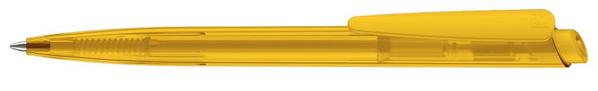 Ручка шариковая пластиковая Senator Dart Clear, прозрачная желтая - фото № 1