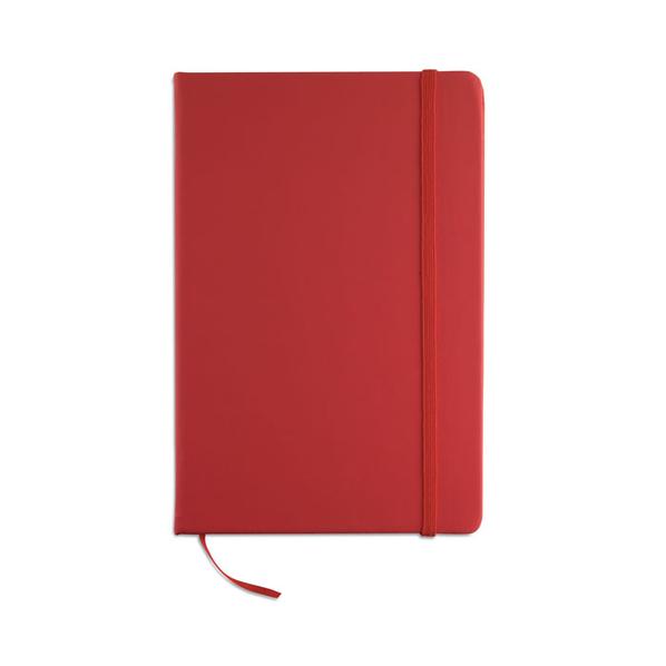 Блокнот нелинованный на резинке А5, 96 стр., темно-красный - фото № 1