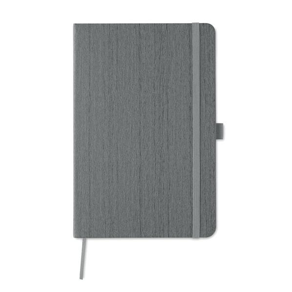 Блокнот в линейку на резинке А5, 80 стр., серый - фото № 1