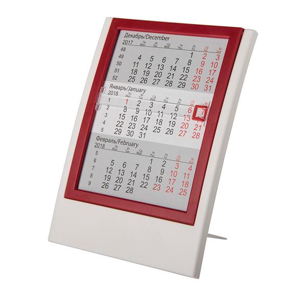Календарь настольный на 2 года, белый, красный - фото № 1