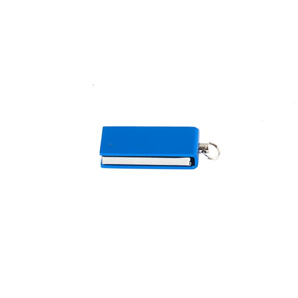 Флешка Микротвист, металлическая, синяя, 4Гб - фото № 1