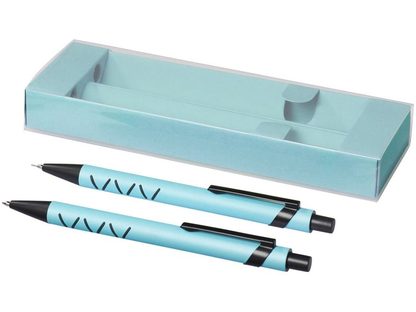 Набор Jupiter: ручка шариковая пластиковая, карандаш механический, зеленый / черный - фото № 1