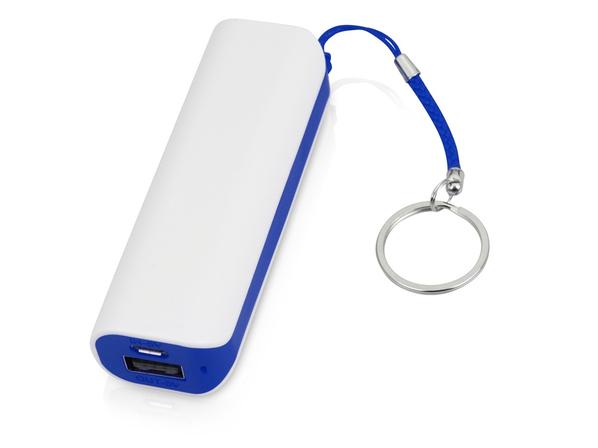 Зарядное устройство портативное Basis, 2000 mAh, белое / синее - фото № 1