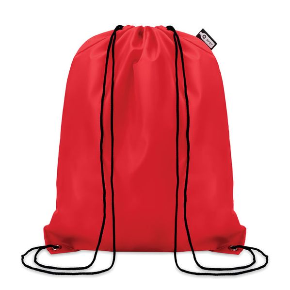 Рюкзак на шнурках, красный - фото № 1