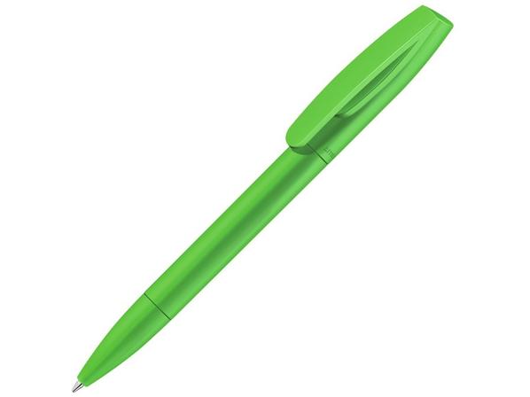 Ручка шариковая пластиковая Coral, салатовая - фото № 1