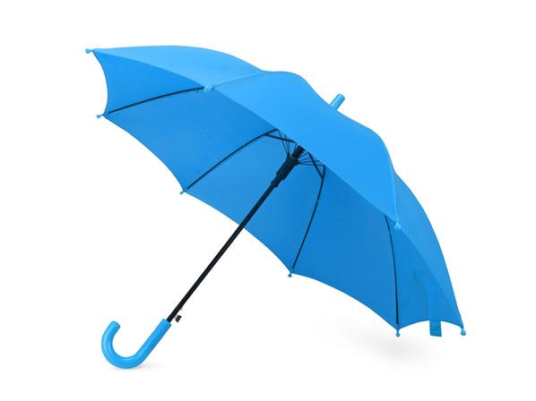 Зонт трость полуавтомат детский Edison, голубой - фото № 1