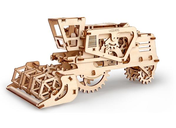 3D-пазл UGEARS Комбайн, древесный - фото № 1