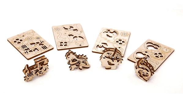 3D-пазл UGEARS Набор Трибики, древесный - фото № 1