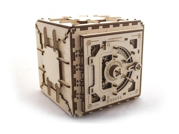 3D-пазл UGEARS Сейф, древесный - фото № 1