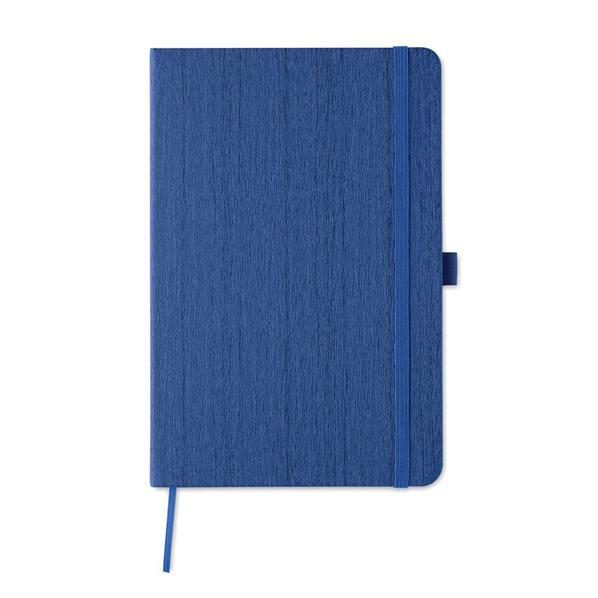 Блокнот в линейку на резинке А5, 80 стр., синий - фото № 1