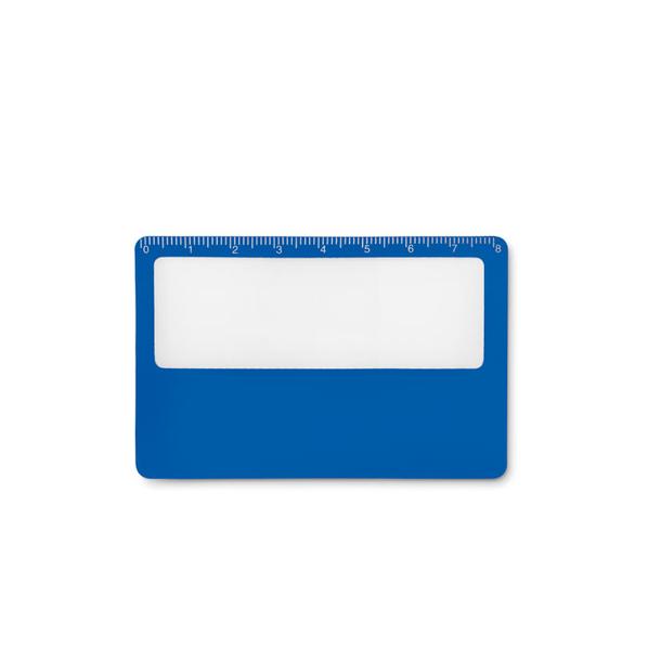 Чехол для кредитной карты с функцией лупы, синий - фото № 1