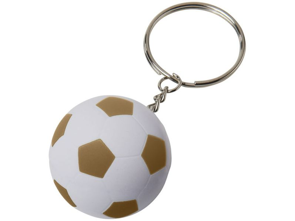 Футбольный брелок Striker, белый/ золотой - фото № 1