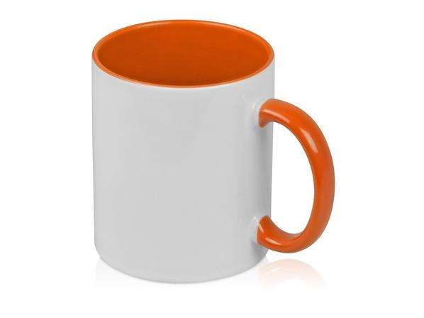 Кружка Sublime Color для сублимации, белый/ оранжевый