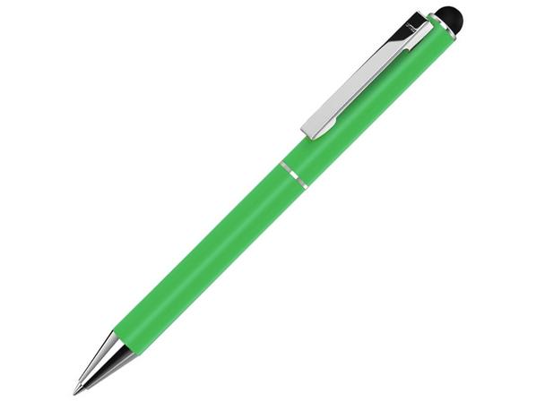Ручка-стилус шариковая металлическая Straight SI Touch, зеленая - фото № 1