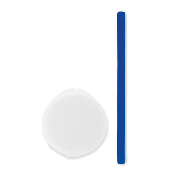 Соломинка силиконовая многоразо, синий - фото № 1