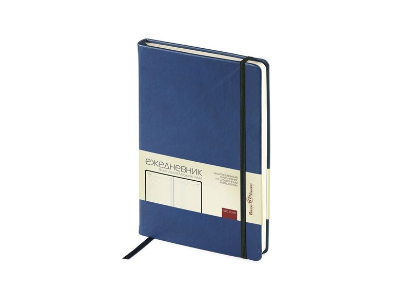 Ежедневник недатированный Bruno Visconti Megapolis Velvet А5, классический синий/ черный - фото № 1