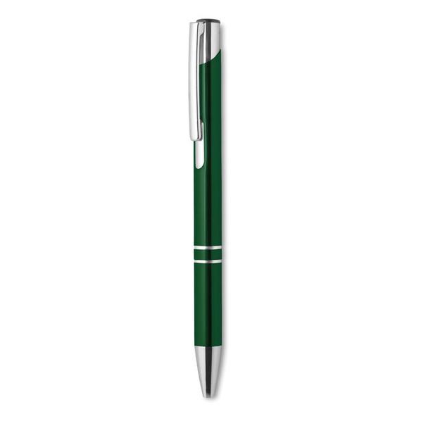 Ручка шариковая металлическая, зеленый металлик - фото № 1