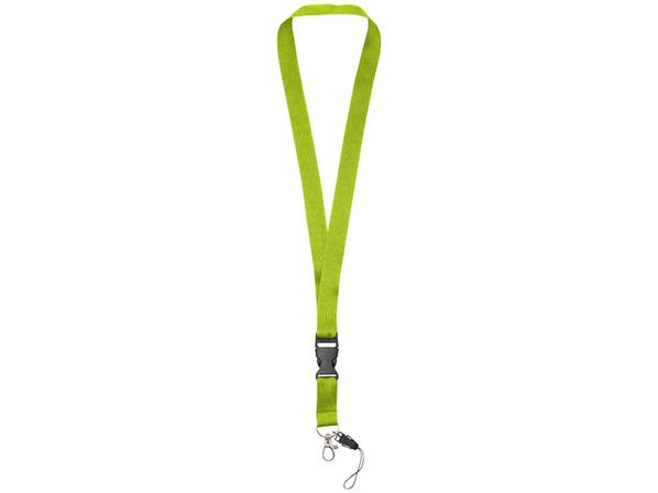 Шнурок Sagan с отстегивающейся пряжкой и держателем для телефона, зеленый - фото № 1
