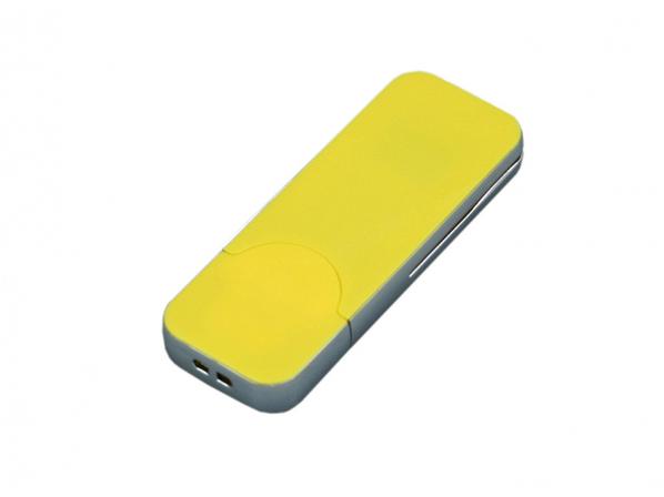Флешка USB 2.0 на 64 Гб в стиле IPhone, желтая - фото № 1