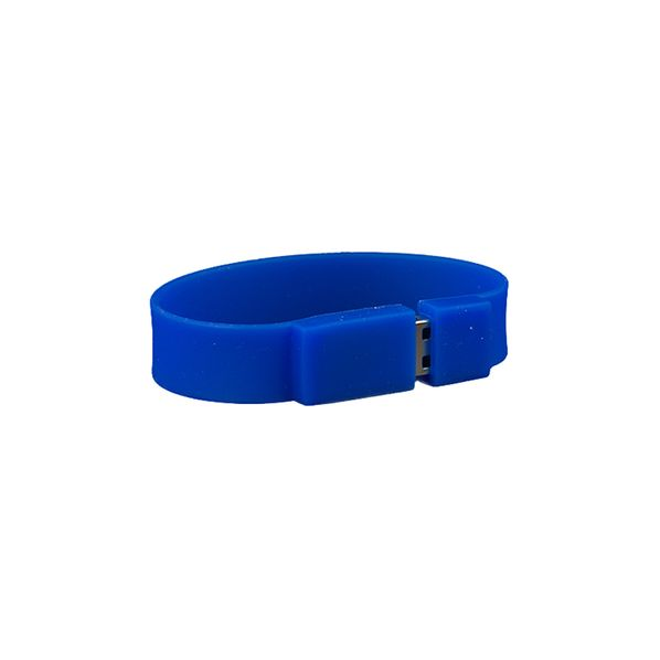 Флешка браслет силиконовая, синяя, 32Гб - фото № 1