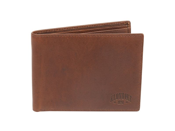 Бумажник Klondike 1896 Dawson, кожа, коричневый - фото № 1