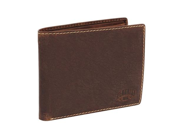 Бумажник Klondike 1896 Yukon, зернистая кожа, коричневый - фото № 1