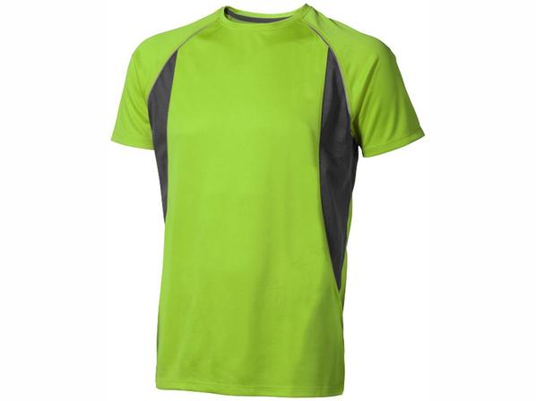 Футболка спортивная из сетки мужская Elevate Quebec Cool Fit, зеленое яблоко / черная - фото № 1
