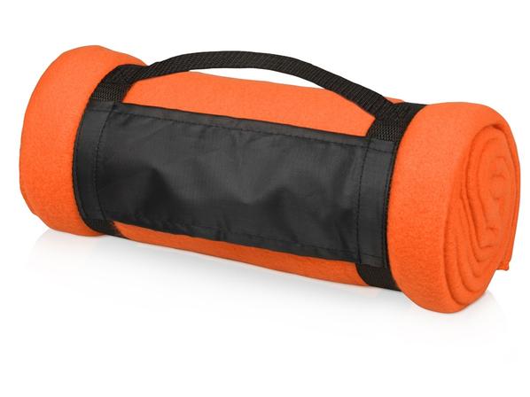 Плед флисовый 180 гр./м2, оранжевый - фото № 1