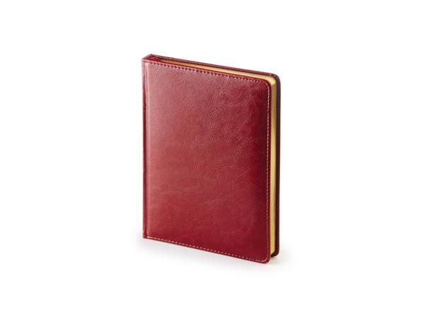 Ежедневник недатированный Альт Sidney Nebraska А6+, бордовый - фото № 1