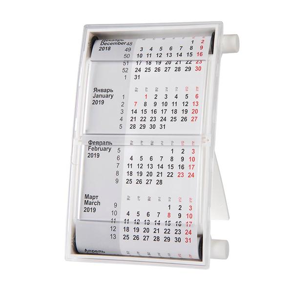 Календарь настольный на 2 года 18,5*11 см, белый - фото № 1