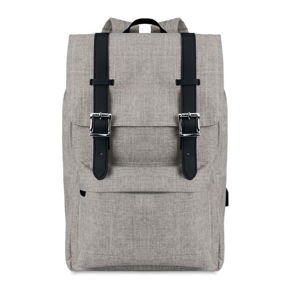 Рюкзак, серый меланж - фото № 1