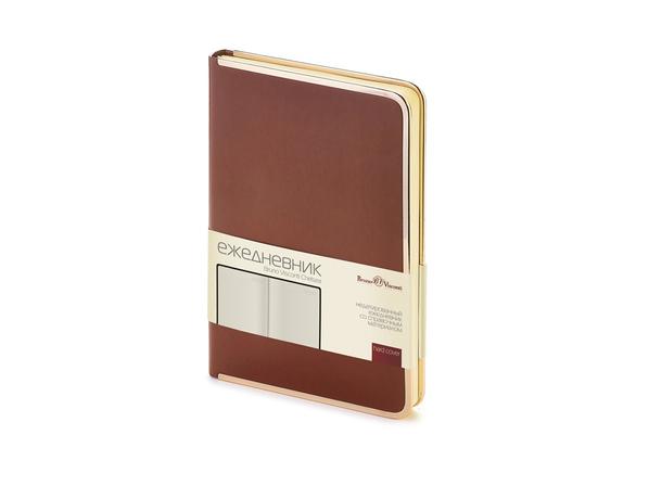 Ежедневник недатированный Bruno Visconti Chelsea А5, коричневый - фото № 1