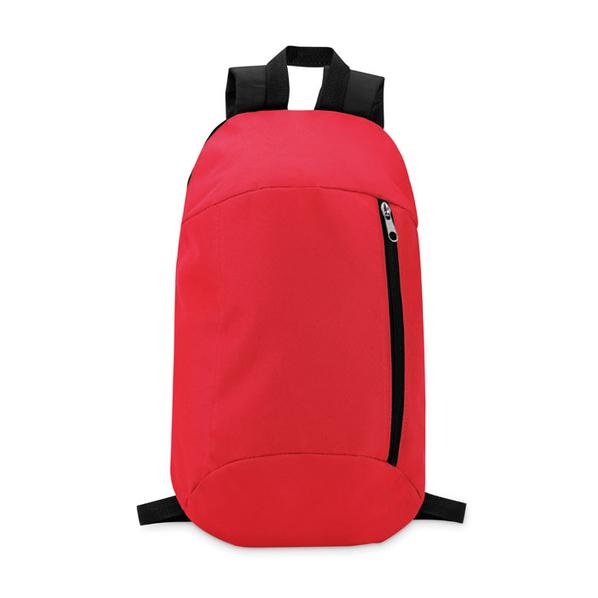 Рюкзак, полиэстер 600D, красный/черный - фото № 1